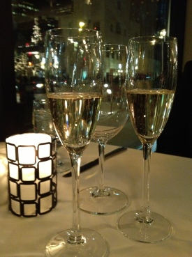 Champagne and Holiday Lights at Vincent in Minneapolis