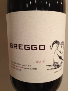 Breggo Cellars 2010 Ferrington Pinot Noir