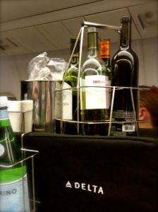 What a proper airline beverage cart ought to look like