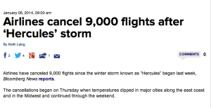 Thousands of cancelled flights