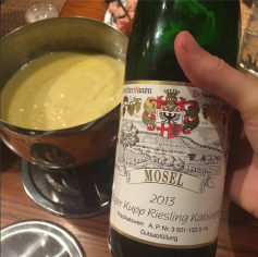 Riesling and fondue for Christmas night