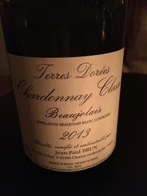 A white Beaujolais recommended by our bartender at Stanley's. So good, it made me want to weep with joy.