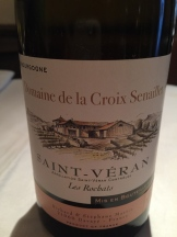 Beautiful white Burgundy, Saint-Véran, at Peploe's lunch.