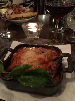 Irresistible eggplant parmesan at Dunne & Crescenzi.