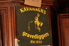 Kavanagh's Pub near Glasnevin Cemetery. Haunted by gravediggers since 1833.