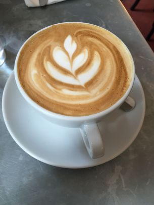 My favorite latte of the trip, served at Hatch and Sons.