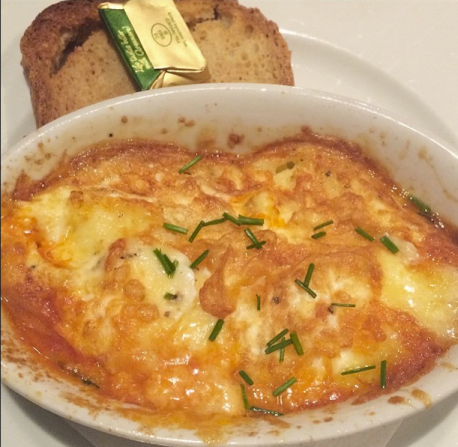 Known for scones and baked goods, do not underestimate Queen of Tarts baked eggs.