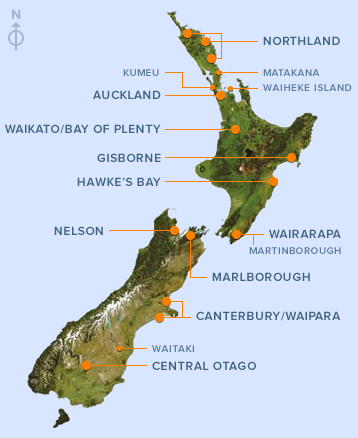 NZ Wine Regions from nzwine.com