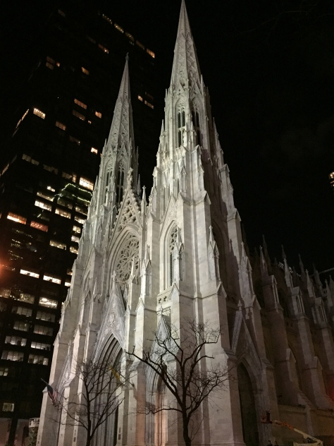St. Patrick's Cathedral at night. ©2015 Lucy Mathews Heegaard