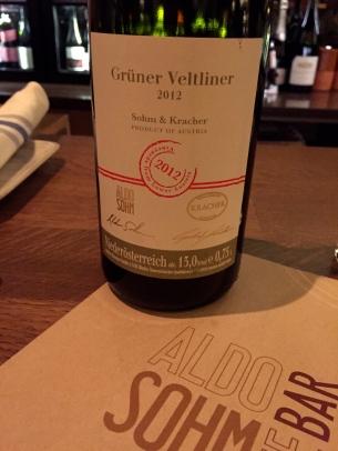 2012 Gruner Veltliner made by Aldo Sohm in collaboration with Kracher of Austria ©2015 Lucy Mathews Heegaard