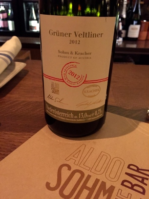 2012 Gruner Veltliner made by Aldo Sohm in collaboration with Kracher of Austria ©2015 Lucy Mathews Heegaard