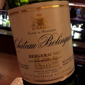 Chateau Belingard 2013 Bergerac Sec. A Sauvignon Blanc with a hint of Semillion @2015 Lucy Mathews Heegaard