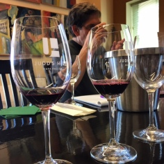 Wine blending at Judd's Hill MicroCrush in Napa.