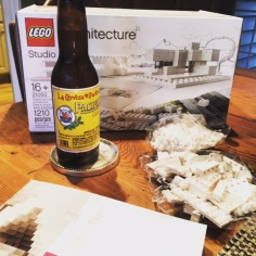 Pacifico + Legos = a great Friday night. (we can't drink wine and act like grown ups ALL the time).