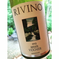 Discovered this lovely Viognier made by Rivino in Ukiah, a new Mendocino favorite.