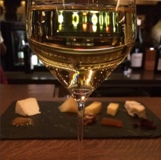 Riesling and cheese platter at Aldo Sohm